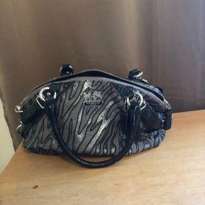 Authentic Coach, medium size zebra print bag